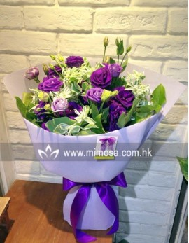 FB204 - 紫桔梗花束